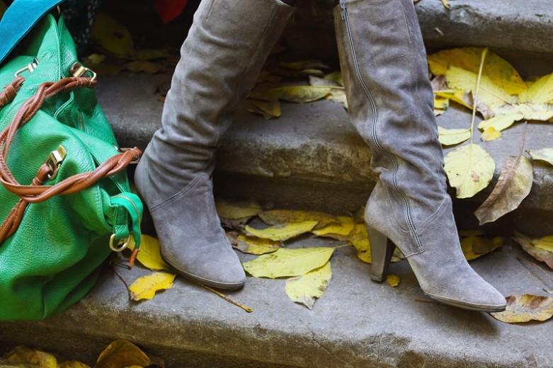 buty damskie - kozaki na jesień